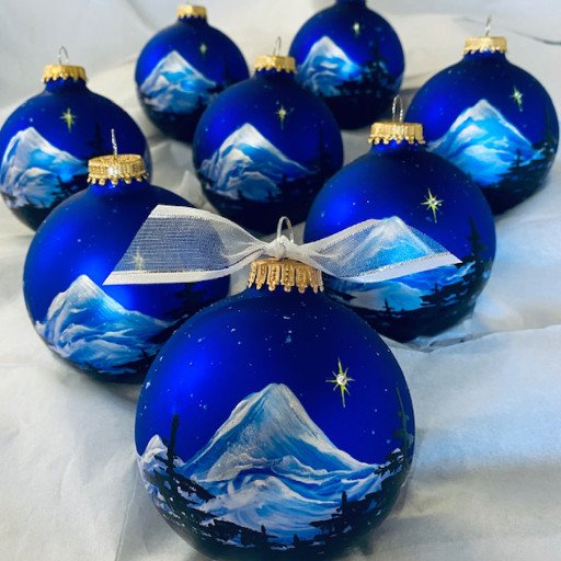 Silent Night personalized hand-painted Christmas ornament